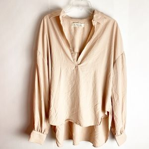 New Free People Oversized Shirt Blush Pink Medium